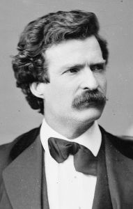 Mark Twain (photo by Matthew Brady.