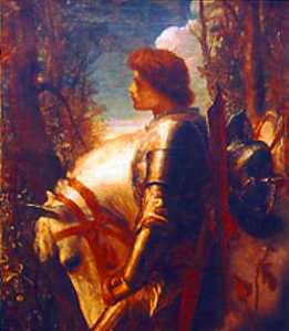 Sir Galahad, a hero of Arthurian legend, detail of a painting by George Frederic Watts