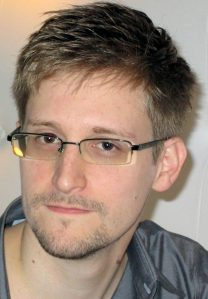Former NSA contractor Edward Snowden, considered either a traitor or a whistleblower.