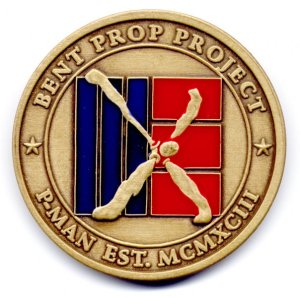 Bent Prop medallion