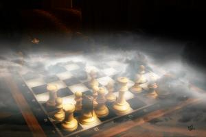 Chess is tough. Especially in the fog.