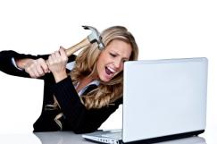 smashing laptop