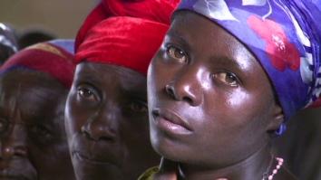 Raped women in Congo
